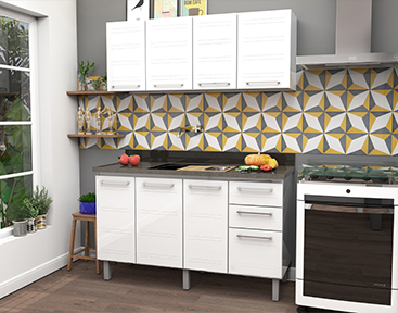 Cozinha de Aço Cozimax Zeus Flat