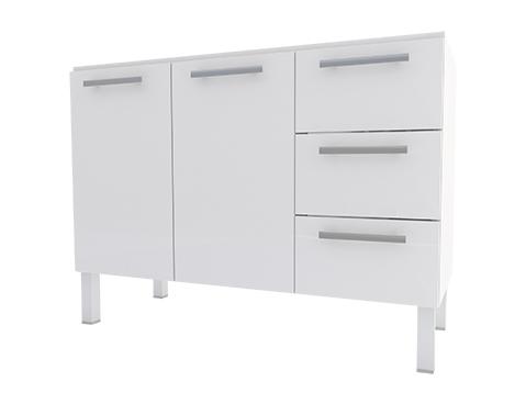 Gabinete de Cozinha em Aço Cozimax Vênus Flat 120 Branco