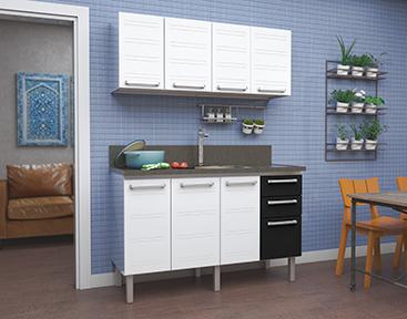 Cozinha em Aço Cozimax Hércules Flat
