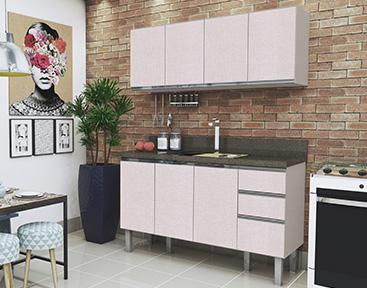Gabinete de Cozinha de Madeira Cozimax Potira