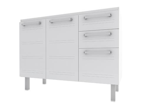 Gabinete de Cozinha em Aço Cozimax Hércules Flat 120 Branco