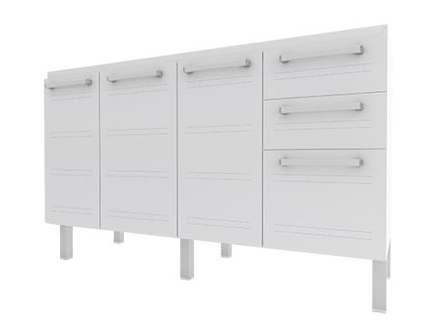 Gabinete de Cozinha em Aço Cozimax Hércules Flat 140 150 160 Branco