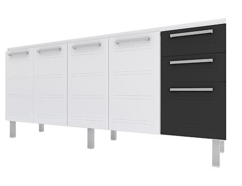 gabinete-de-cozinha-em-aco-cozimax-zeus-flat-180-200-branco-com-detalhe-em-preto
