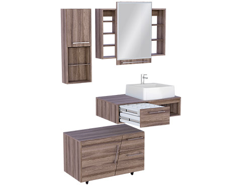 Banheiro em Madeira Cozimax Begônia