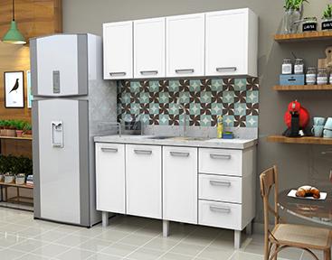 Gabinete de Cozinha em Aço Apolo Flat Cozimax