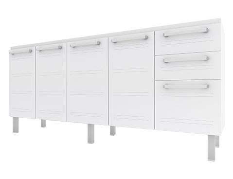 Gabinete de Cozinha em Aço Cozimax Hércules Flat 180 200 Branco
