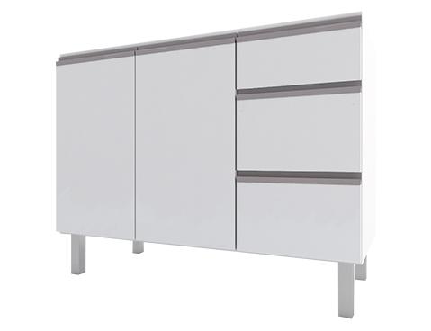 Gabinete de Cozinha em Aço Gaia Flat Cozimax 120