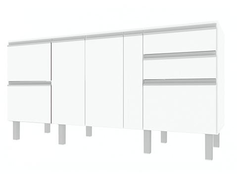 Gabinete de Cozinha em Madeira Cozimax Tupã 180 200 Branco