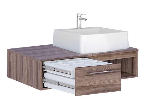 Banheiro em Madeira Módulo Suspenso Cozimax Begônia