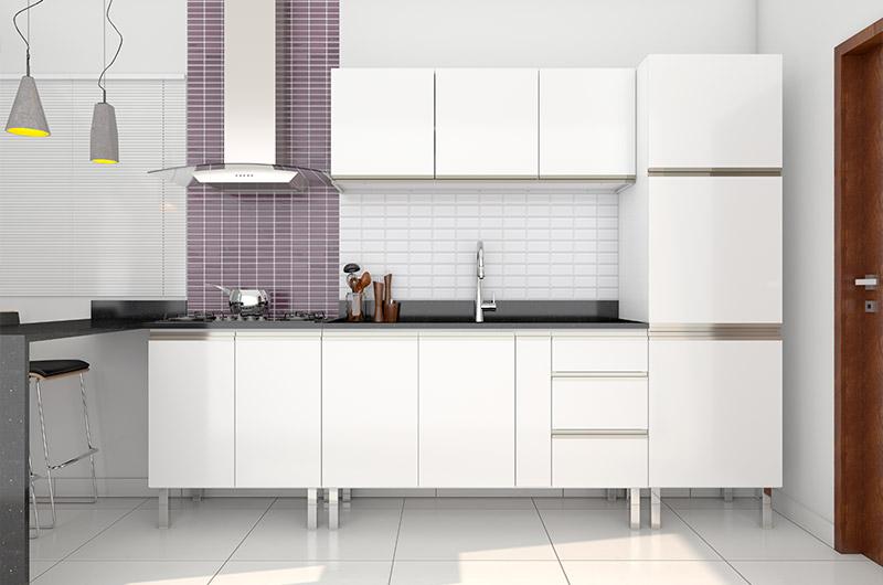 Blog Cozimax dicas para decorar cozinha e diferenciar da lavanderia do apartamento cozinha estilo americana com Gaia Flat