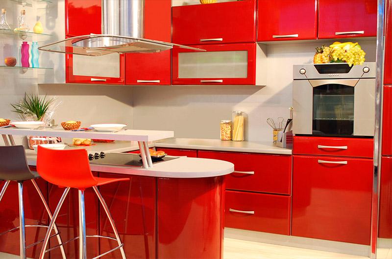 Blog Cozimax dicas para decorar cozinha e diferenciar da lavanderia do apartamento cozinha na cor vermelha