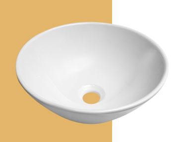 Cubas de Apoio para Banheiro em Mármore Sintético e em Louça Cozimax