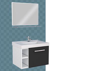 Kit de Banheiro em Aço Amora Cozimax