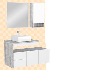 Banheiro em Madeira Aimoré Cozimax