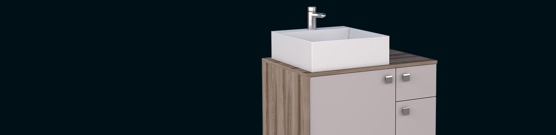 Banheiro em Madeira Caeté Cozimax Móveis