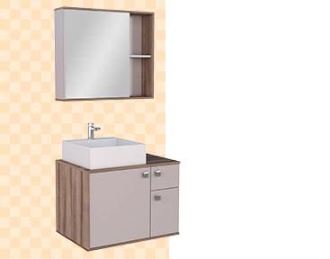 Banheiro em Madeira Caeté Cozimax