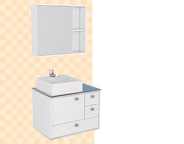 Banheiro em Madeira Moema Cozimax