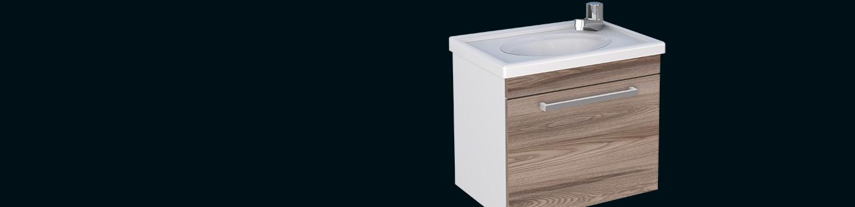 Kit para Banheiro em Madeira Ágata Cozimax Móveis