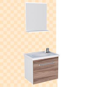 Kit de Banheiro em Madeira Ágata Cozimax