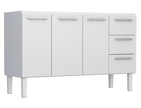 Gabinete de Cozinha em Aço Cozimax Vênus Flat 150 Branco