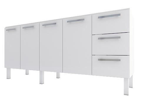 Gabinete de Cozinha em Aço Cozimax Vênus Flat 180 200 Branco