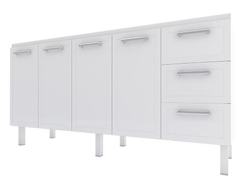 Gabinete de Cozinha em Aço Cozimax Apolo Flat 180 / 200