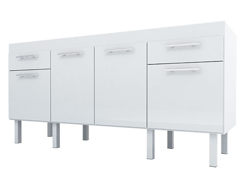 Gabinete de Cozinha de Madeira Cozimax Gaivota 180 200 Branco