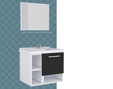 Kit de Banheiro em Aço Lichia Cozimax
