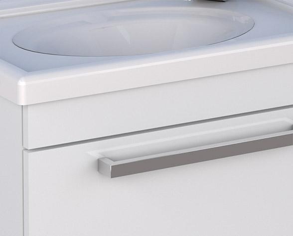 Lavatório em Mármore Sintético com Bordas Sobrepostas