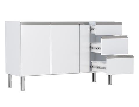 Gabinete de Cozinha em Aço Cozimax Gaia 140 150 160 Branco