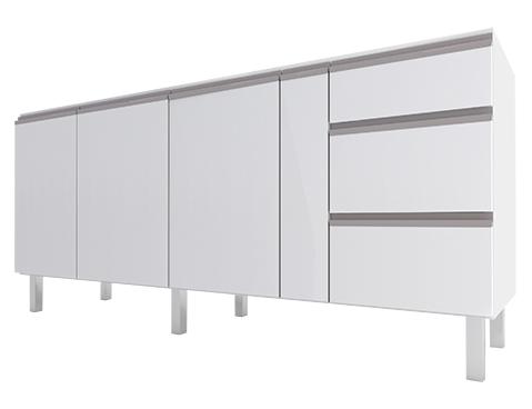 Gabinete de Cozinha em Aço Gaia Flat Cozimax 180/200