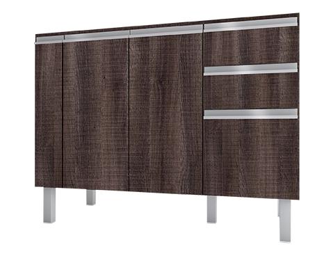 Gabinete de Cozinha em Madeira Cozimax Tupã 120 140 150 Dakota