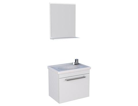 Banheiro em Madeira Toucador e Espelheira em Madeira Ágata Cozimax