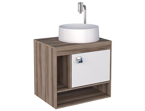 Banheiro em Madeira Toucador em Madeira Cozimax Acacia