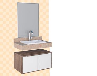 Banheiro em Madeira Arati Cozimax