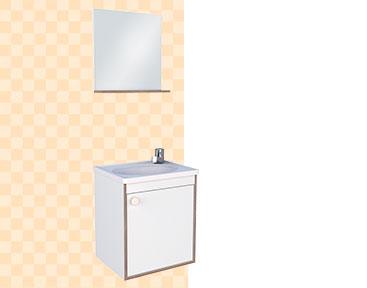 Kit de Banheiro em Madeira Pérola Cozimax