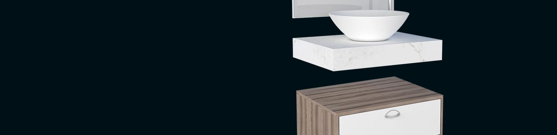 Kit para Banheiro em Madeira Peri Cozimax Móveis