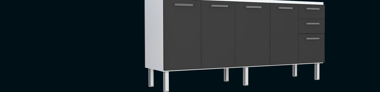 Cozinha em Aço Eros Flat Cozimax Móveis
