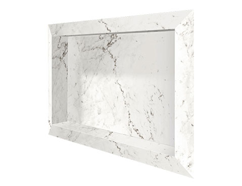 Nicho Diamante Cozimax Móveis cor Branco Polido