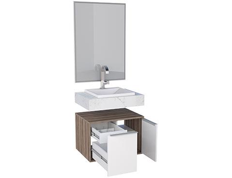 Banheiro em Madeira Arati 60 Cozimax