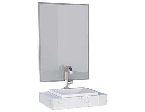Espelheira e Bancada em Porcelanato Arati 60 Cozimax