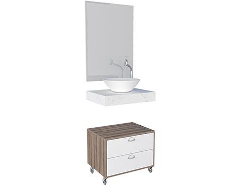 Banheiro em Madeira Peri Cozimax