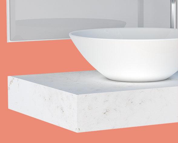 Banheiro em Madeira Peri Cozimax Bancada em Porcelanato