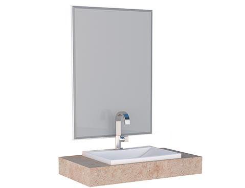 Espelheira e Bancada em Porcelanato Arati 80 Cozimax
