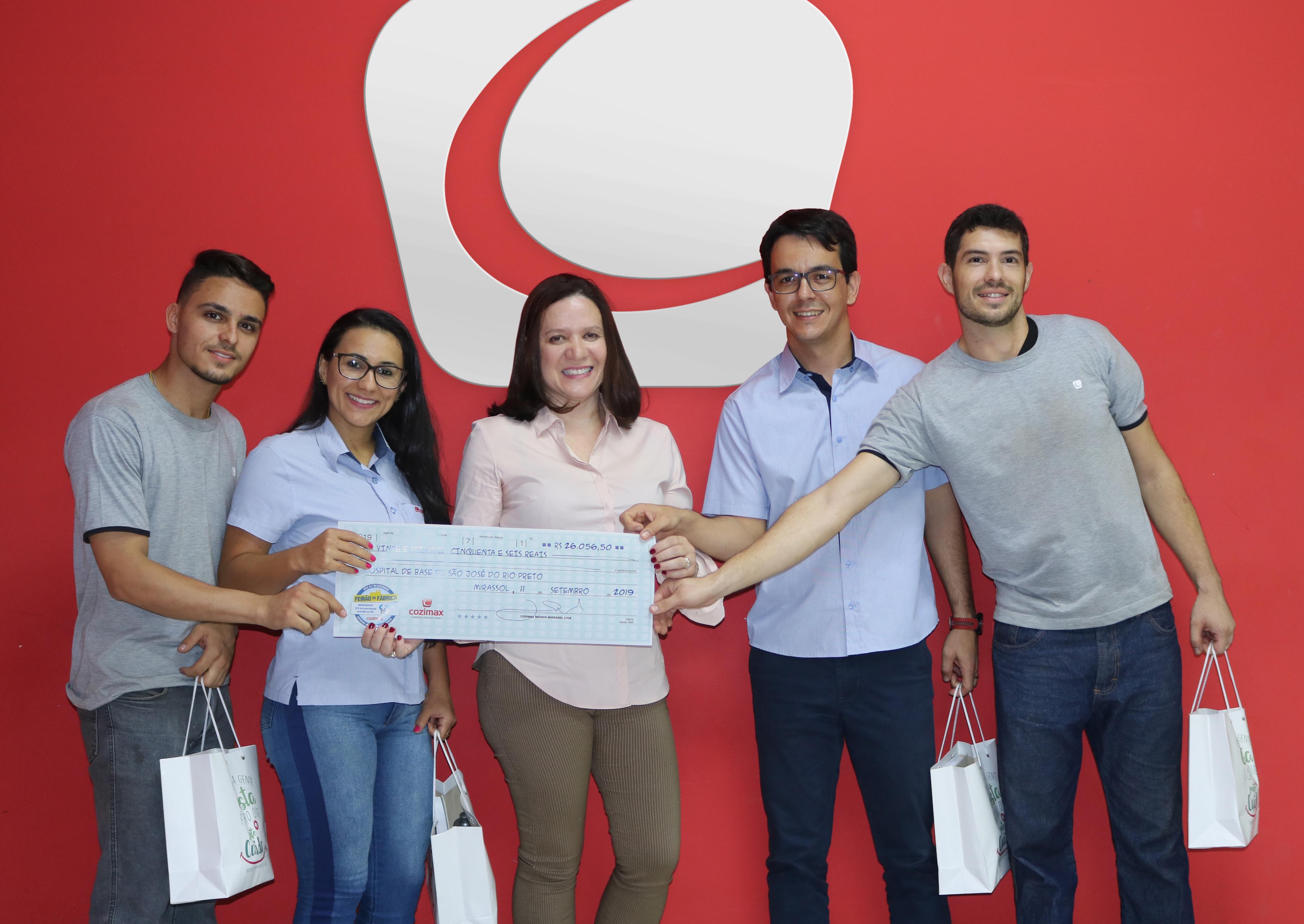 Cozimax doação Funfarme Hospital de Base Rio Preto