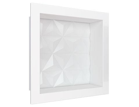 Nicho em Mármore Sintético Cozimax Medida 30 x 30 cor Branco