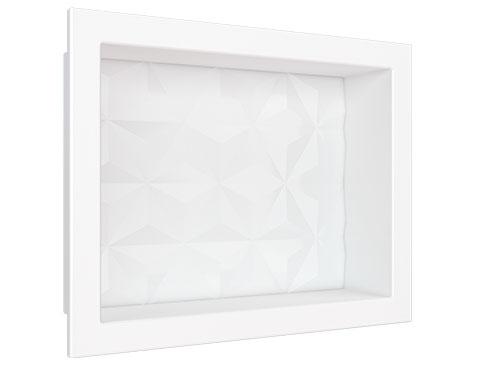 Nicho em Mármore Sintético Cozimax Medida 40 x 30 cor Branco