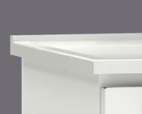 Lavatório com borda sobreposta