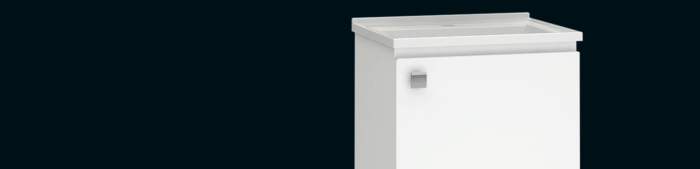 Kit de Banheiro em Aço Cacau Cozimax Móveis