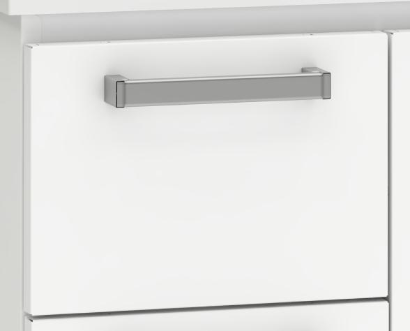Gaveta com puxador ABS cromado